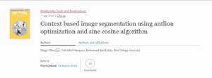 Publication 2018 in Mutimedia Tools and App. Springer
